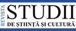 """""""STUDII DE ȘTIINȚĂ ȘI CULTURĂ"""""""